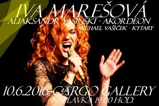 10.6.2016 koncert na lodi Cargo Gallery - Iva Marešová, Aliaksandr Yasinski, Michael Vašíček